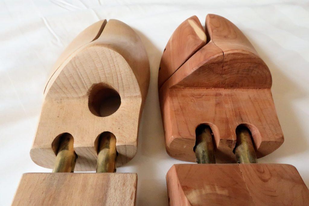 木製シューツリーの比較
