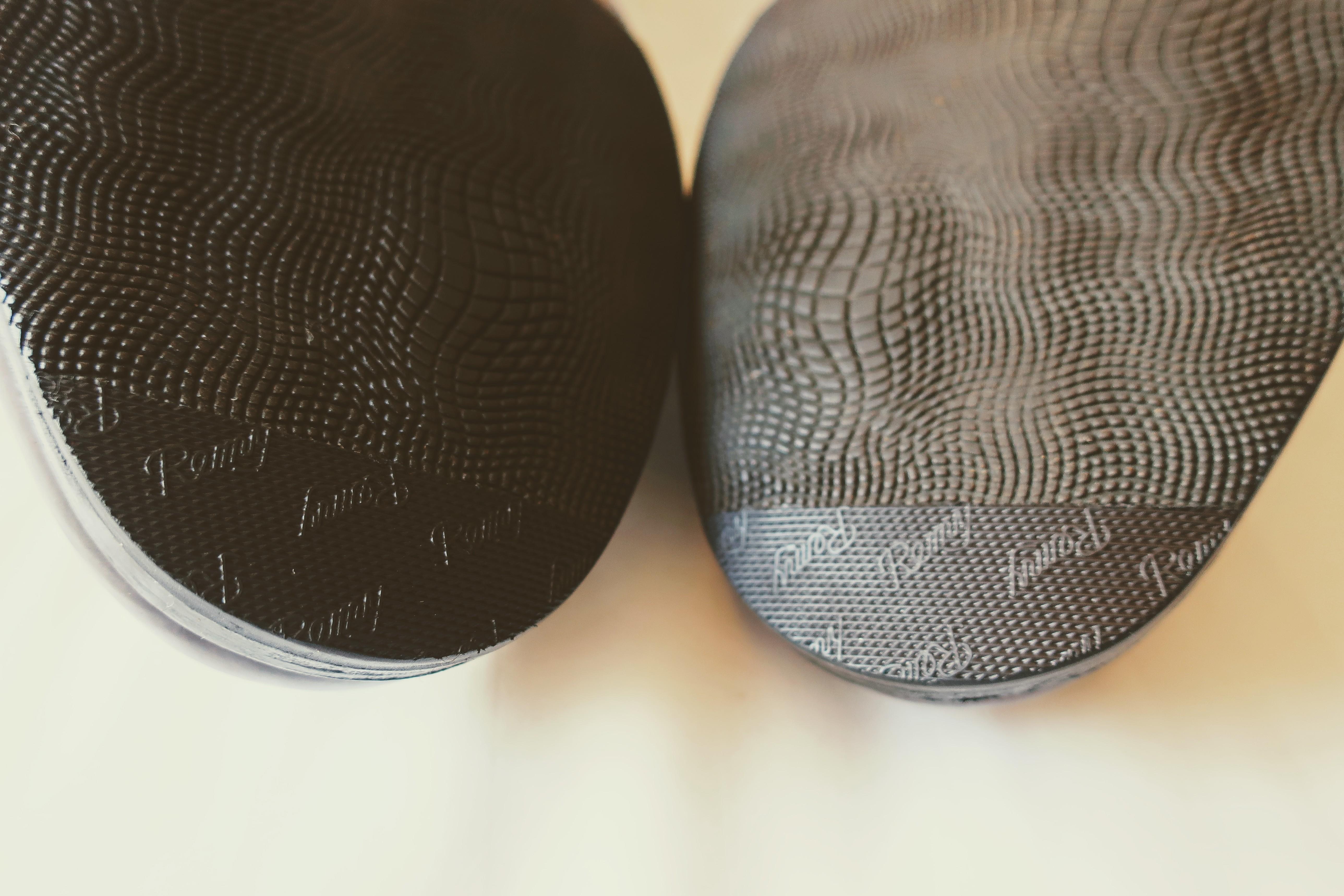 革靴のつま先補修