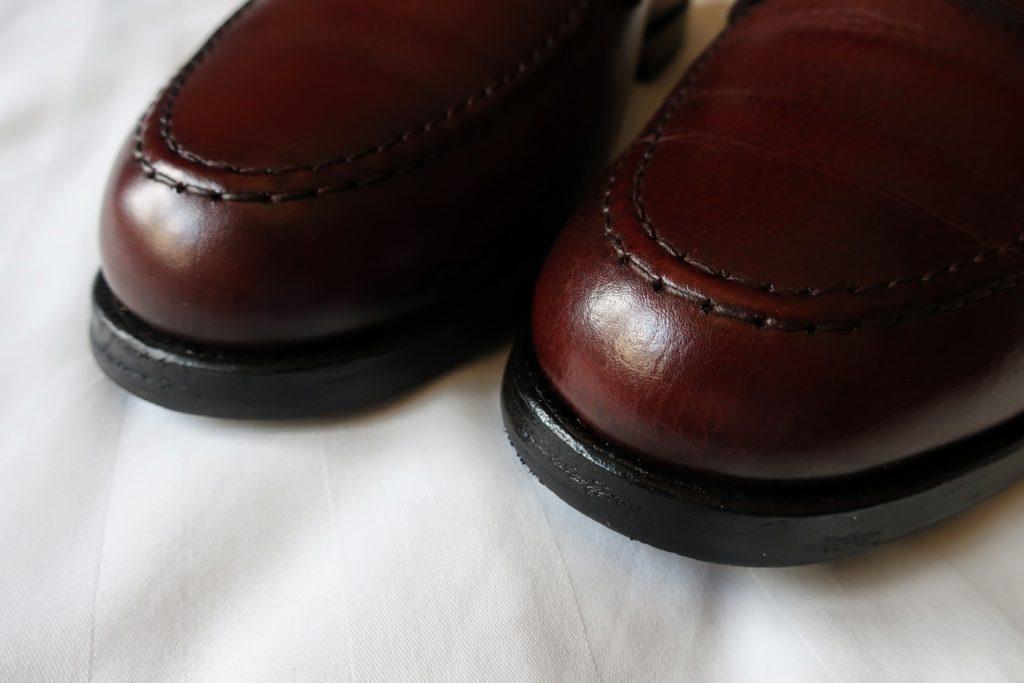革靴のつま先補修後