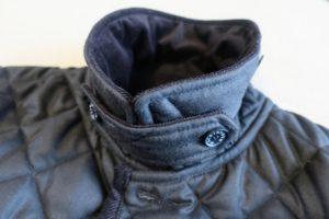 マッキントッシュのキルティングコート襟