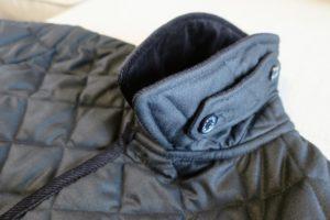 マッキントッシュのキルティングコートの襟