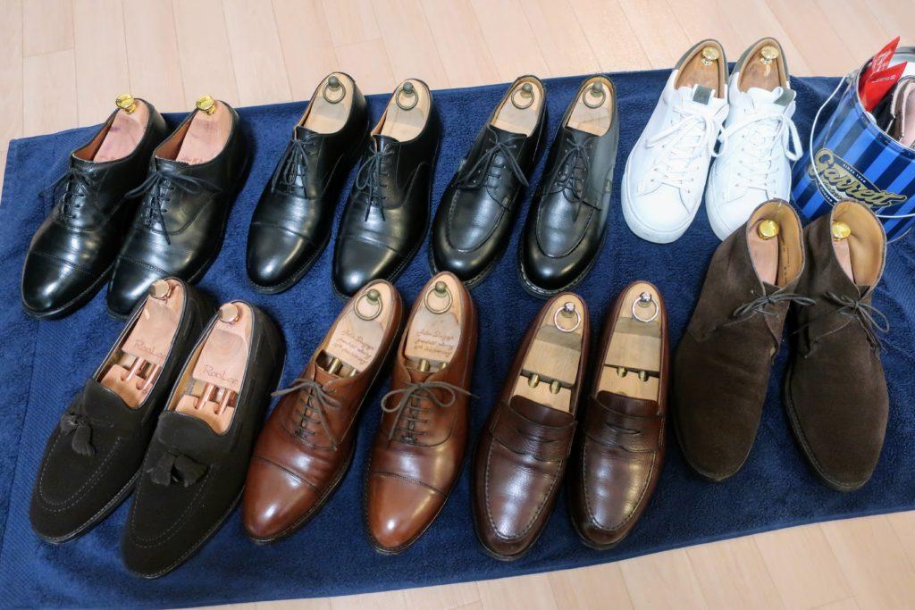 サラリーマンの革靴ワードローブ