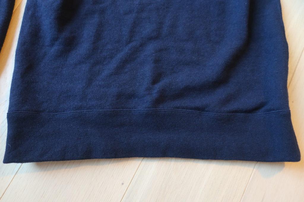 ウールウィラーの裾リブ